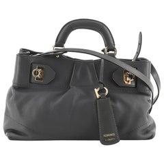 Salvatore Ferragamo W Soft Convertible Satchel Leather Large