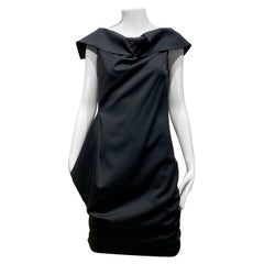 Jil Sander by Raf Simons Black Crepe Dress
