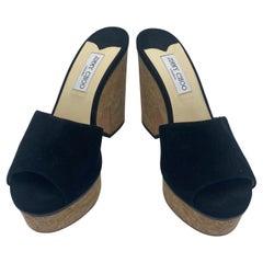 JIMMY CHOO Platform Slide Sandals, Size 41