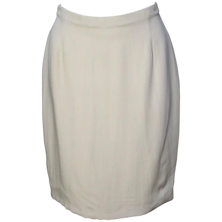 DKNY Bergdorf Goodman Champagne Silk Skirt