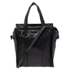 Balenciaga Black Leather XS Bazar Shopper Tote
