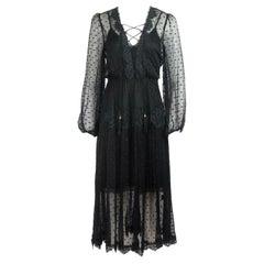 Zimmermann Oleander Lace Trimmed Swiss Dot Silk Georgette Midi Dress