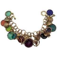 "Bronze ""Charm"" bracelet with Murano glass and bronze pendant by Patrizia Daliana"
