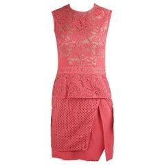 J.Mendel Lace Panelled Cotton Blend Mini Dress