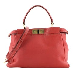 Fendi Selleria Peekaboo Bag Soft Leather Regular