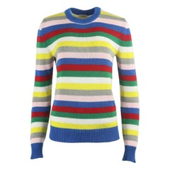 Saint Laurent Striped Cotton Knitted Sweater