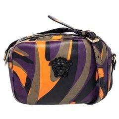 Versace Multicolor Leather Palazzo Medusa Camera Crossbody Bag