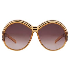 Christian Dior Vintage Mint Orange Oversize Sunglasses 2040 65-10 130 mm