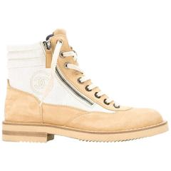 Chanel Panelled Hiking Boots