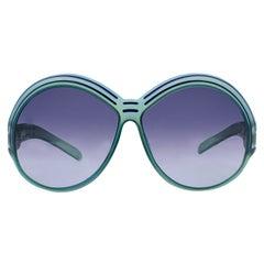 Christian Dior Vintage Mint Green Oversize Sunglasses 2040 65mm 130mm