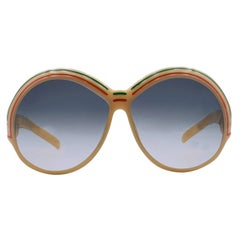 Christian Dior Vintage Mint Beige Oversize Sunglasses 2040 65mm 130mm