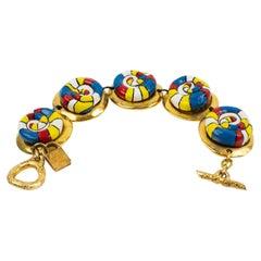 Alexis Lahellec Link Bracelet Niki de Saint Phalle Style Cabochons
