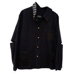 Evening Party Jacket Black French Work Silver Black Square Lurex Tweed J Dauphin