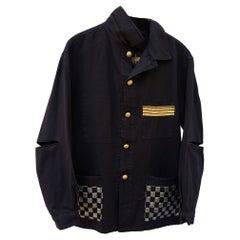 Evening Jacket Black French Gold Braid Silver Black Lurex Tweed J Dauphin