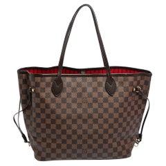 Louis Vuitton Damier Ebene Canvas Neverfull MM Bag