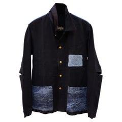 Designer Vintage Collectible Jacket Black French Work Embellished J Dauphin