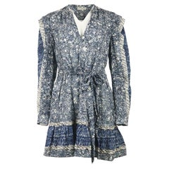 Ulla Johnson Noumi Ruffled Printed Cotton Blend Voile MinI Dress