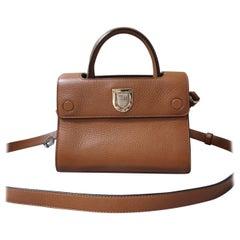 DIOR Mini Diorever Brown Grained Calfskin Bag