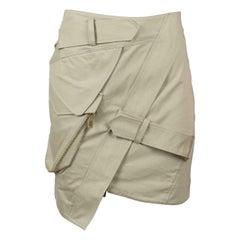 Alexandre Vauthier Asymmetric Wrap Effect Cotton Twill Mini Skirt