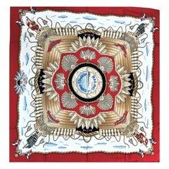 HERMES RAILING HERMES-PARIS  silk scarf, 90x90 cm