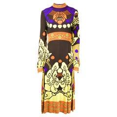 Léonard Paris silk jersey print dress, A / W 1971