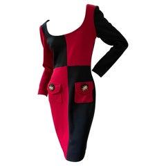 Gemma Kahng for Bergdorf Goodman Vintage 1980's Colorblock Dress