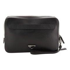 Prada Wristlet Travel Organizer Saffiano Leather