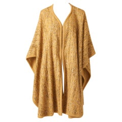Valentino Tweed and Wool Knit Poncho/Cape