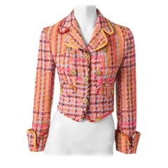 Christian Lacroix Colorful Tweed Cropped Jacket
