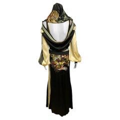 Jean Paul Gaultier S/S 2007 Runway Embroidered Silk Dress & Jacket 2 Piece Set