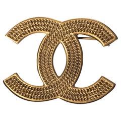 Chanel Gold CC Brooch 2018