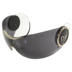 Dior Sport 2 Woman Black Shield Sunglasses With Retractable Arms