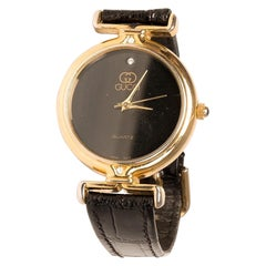 Gucci Vintage Black/Gold Watch
