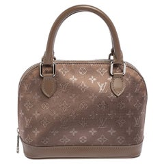 Louis Vuitton Brown Monogram Satin And Leather Limited Edition Alma Mini Bag