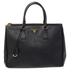 Prada Black Saffiano Leather Large Galleria Tote