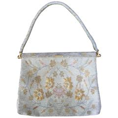 Exquisite Glass Beaded Floral Evening Bag ca 1960