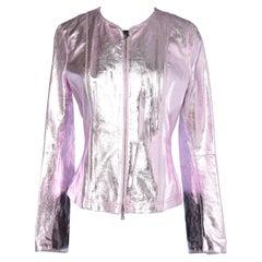 Metalic pink leather jacket  Gf .Ferré