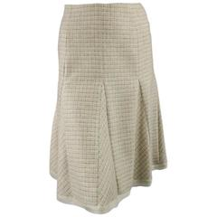 OSCAR DE LA RENTA Skirt - Pencil Skirt - Size 4 Beige & Brown Cashmere Blend