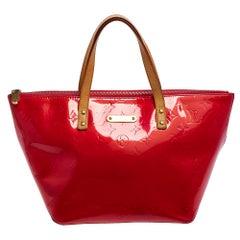 Louis Vuitton Rose Pop Monogram Vernis Bellevue PM Bag