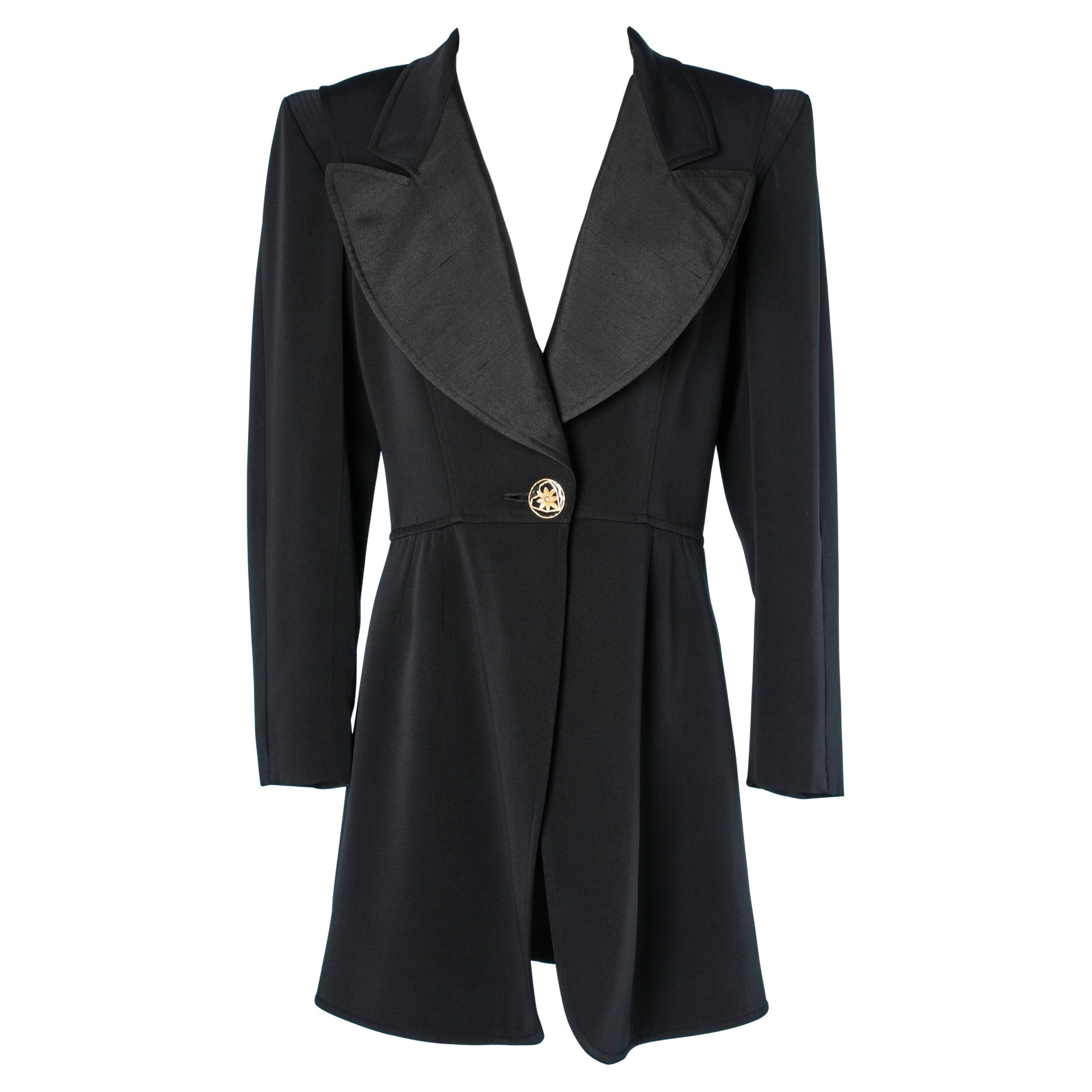 Black blazer with gold metal button Christian Lacroix