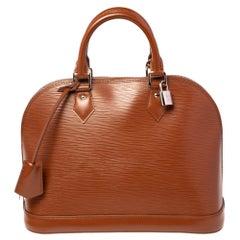 Louis Vuitton Cacao Epi Leather Alma PM Bag