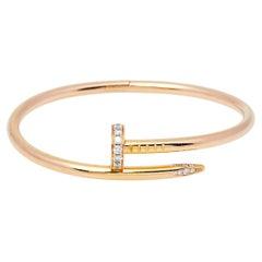 Cartier Juste Un Clou Diamond 18K Yellow Gold Bracelet 17