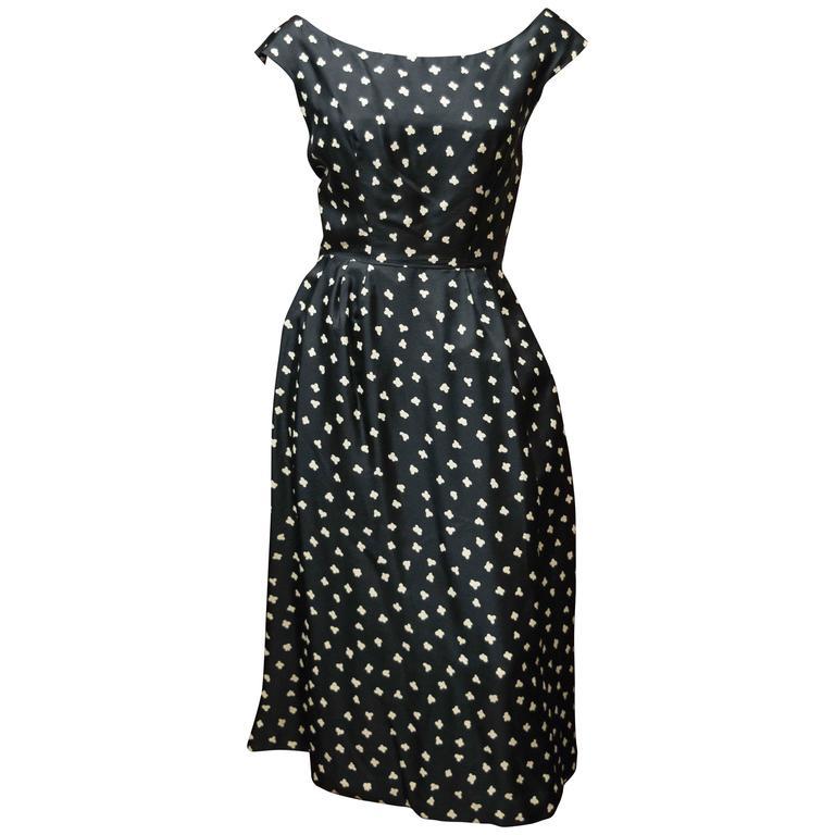 1950s Popcorn Print Dress 1