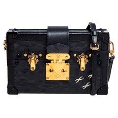 Louis Vuitton Black Epi Leather Petite Malle Bag