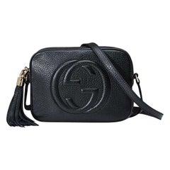 Gucci Soho GG Embossed Tassel Black Leather