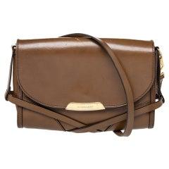 Burberry Brown Leather Abbott Shoulder Bag