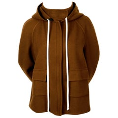 2014 CELINE by PHOEBE PHILO hooded cashmere jacket with patch pockets
