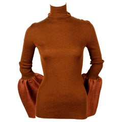 new 2015 CELINE by PHOEBE PHILO runway turtleneck with bell sleeves