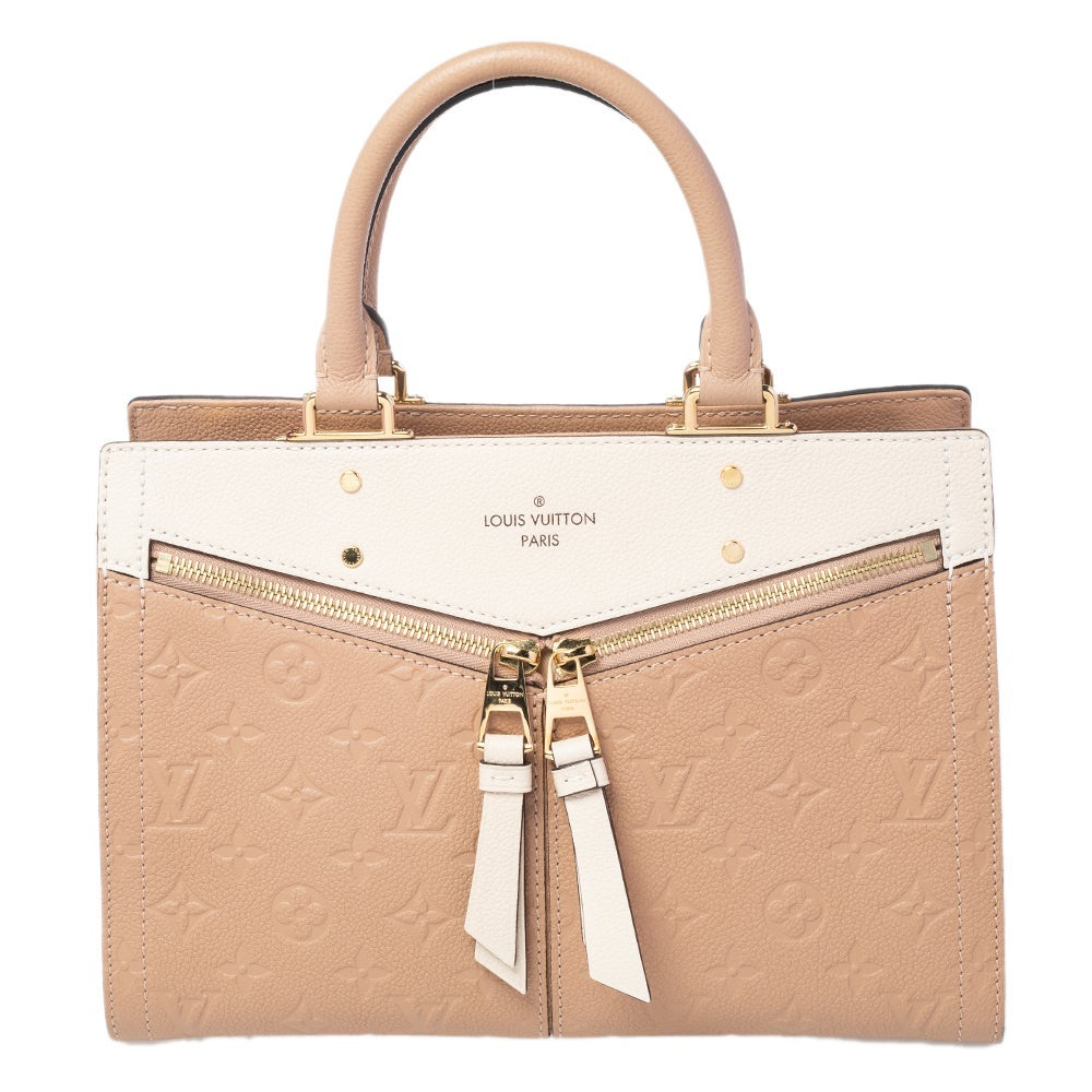 Louis Vuitton Papyrus Creme Monogram Empreinte Leather Sully PM Bag