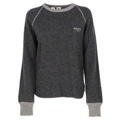 2000s DKNY dark grey wool jumper